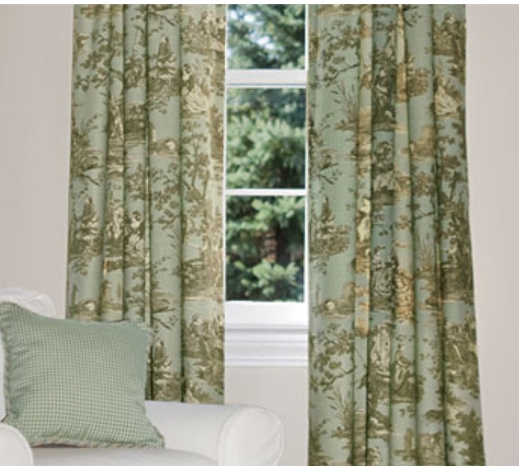 Country Curtains Spa Toile Curtains
